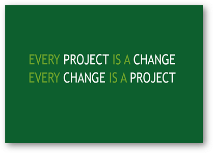 The Connection between PROJECTS and CHANGE